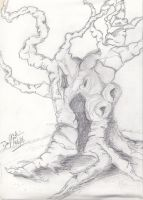 Old Gnarled Tree by Dan J. Gutwein by danjgutweincreations