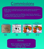Commission Price Sheet! by LunarTails