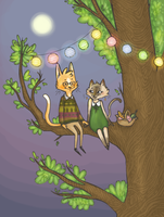 Picnic in a tree by kinachuku