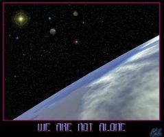 WE ARE NOT ALONE by kaluverdeano