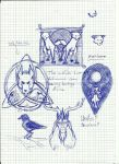 More doodles of celtic stuff! by DracoScatchmore