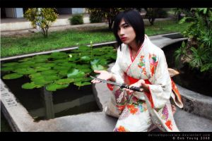 Shiroi Kimono Offering by delicateporcelain