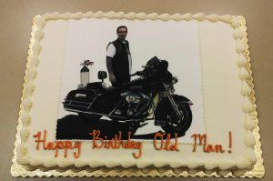 Harley Davidson 50th birthday cake by ayarel