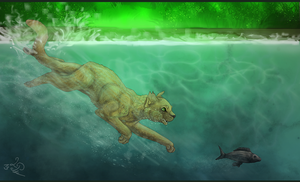 Fishing .:Comission:. by skelletbreath