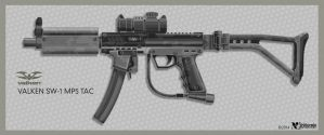 Valken SW-1 MP-5 Paintball Gun by wiledog