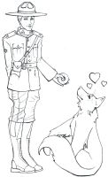 Due South - wolf training. by steflovescake