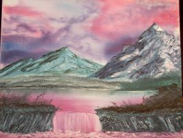 Fuschia Landscape by jinxedbyemily