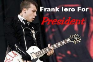 Frank Iero for President by AllRejectSam