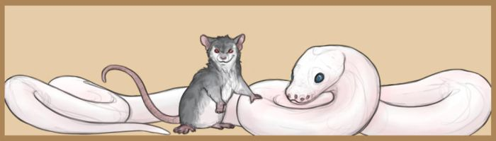 The danger noodle and rat by Felix-Vulpes