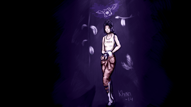 Lonely, lonely Chell - [REDRAW] by Khan-the-cake-lover