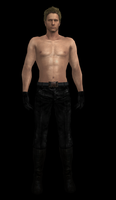 Wesker: Shirtless and Spiky by drakl0r