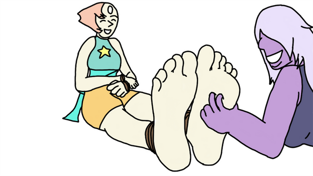 Pearl's Feet Tickled [Request] by penguinluver1431