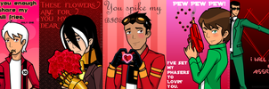 V-Day Cards With Words by RandomDraggon