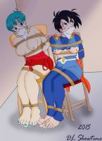 Bulma and Videl by DLShowtime