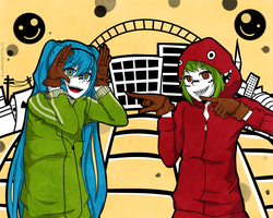 Vocaloid Matryoshka - GUMI and MIKU by ShionXeriawind