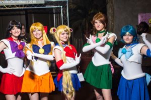 ColossalCon 2015 - Sailor Scouts by VideoGameStupid