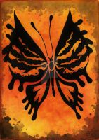 Orange butterfly by MissPoe