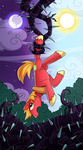 My little pony tarot card 12. The Hanged Man by kairean