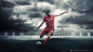 Steven Gerrard 2014/15 Wallpaper (Liverpool FC) by AlbertGFX