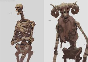 Skeletons by EdwardDelandreArt