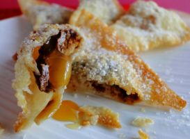 Chocolate Filled Wontons by cakecrumbs
