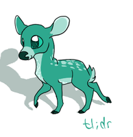 Teal Deer by MochaMoss