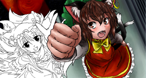 ISCRIBBLE RAN AND CHEN by Denki89