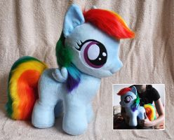 Big Filly Rainbow Dash Plush by Sethaa