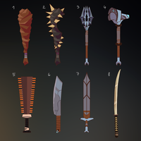 Concept art - Weapons by DAggERnoGod