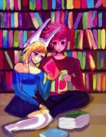 Fionna And Prince Gumball : Library by Whitealone