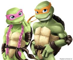 TMNT Michelangelo and Amoly by propimol