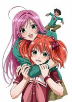 Rosario + Vampire Cappu 2 by dragonfire64