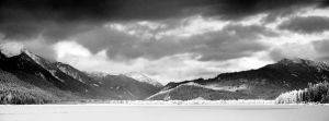 Frozen Lake Wenatchee by snak
