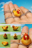 For Sale: Ohana, the buff orpington chicken charm by emmil