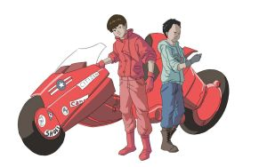 Kaneda and Tetsuo by ArtistLimited