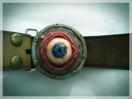 Custom Eyeball Belt Buckle by MorgansMutations