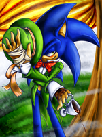 hatter sonic by KairaA-TheCat