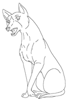 Ginga Greyhound Lineart by RurouniGemini83