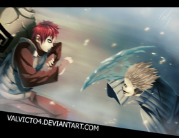 Gaara vs Kage by valvicto4