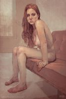 Nude Redhead Portrait by Odewill