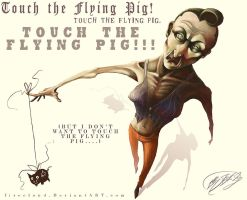 Touch The Flying Pig by firecloud