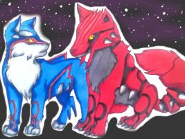 The Ying Yang of Pokemon- Water and Fire by czaria