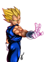 DBZ - Another random Vegeta by Goldman-Karee