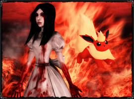Alice and Flareon by jagged66
