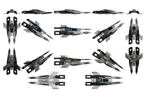 Mass Effect 3, Alliance Fighter Reference by Troodon80