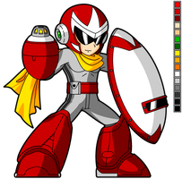 - SSB4 Style - Proto Man HD Sprite by Availation