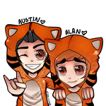 Tiger Austin and Alan by Lynnrenk