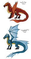 Dragons: Fire and Lightning by joshuad17