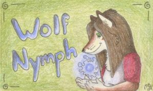 """Wolf Nymph"" conbadge by selunca"