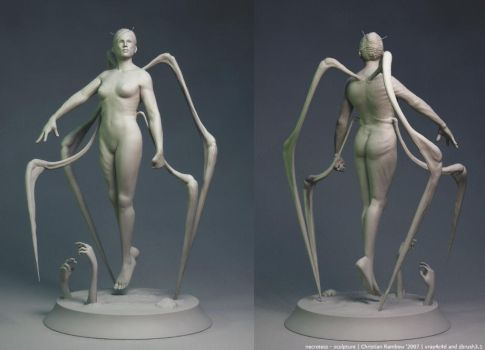 necrotess - sculpture - zbrush by ChrRambow